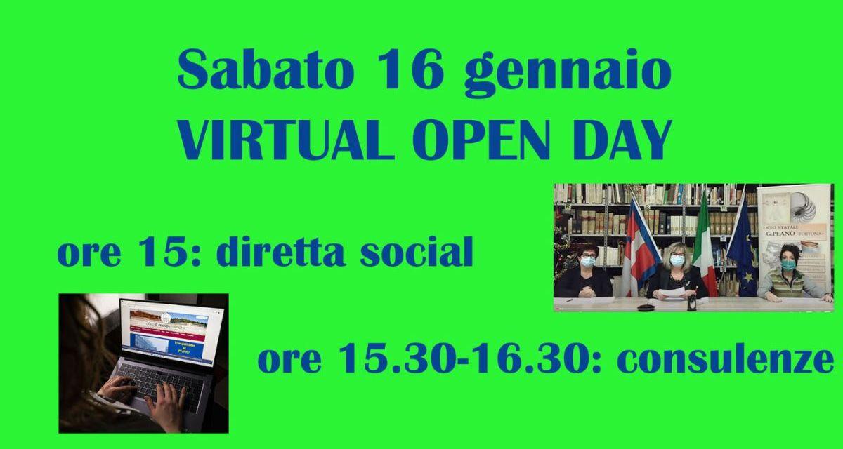 """Nuovo """"Virtual open day"""" al liceo """"Giuseppe Peano"""" di Tortona per gli studenti della Terza media"""