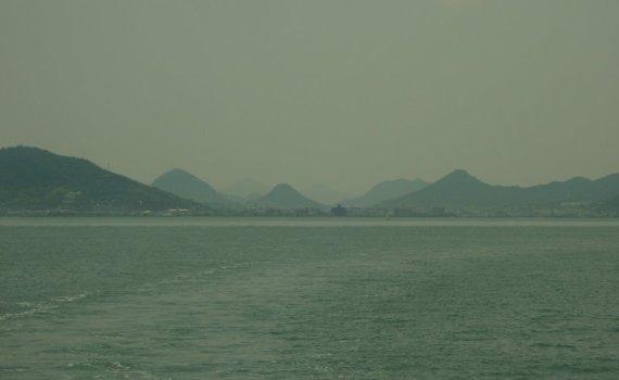 Takamatsu vue depuis la Mer Intérieure de Seto