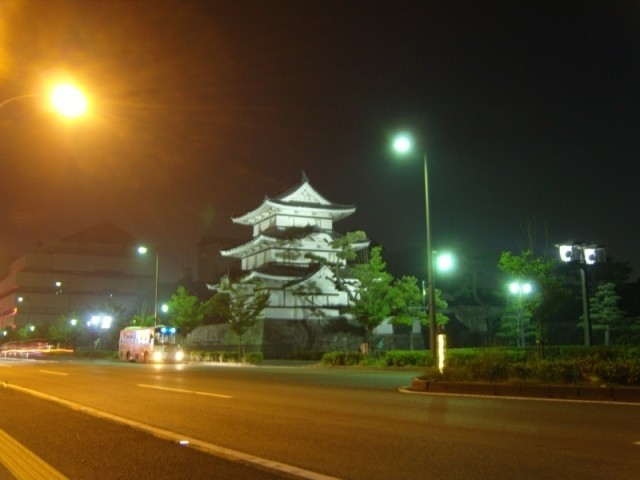 Chateau de Takamatsu la nuit