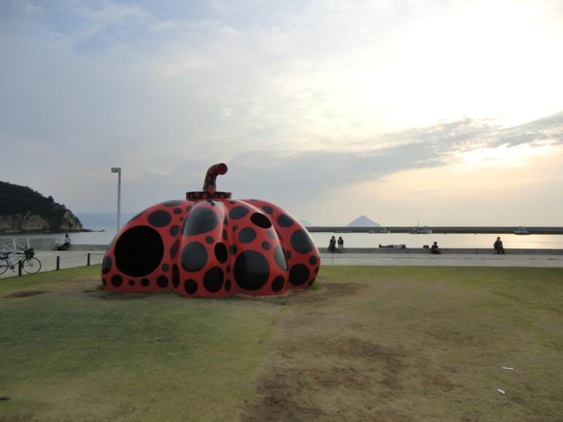 Red Pumpkin - Naoshima - Yayoi Kusama