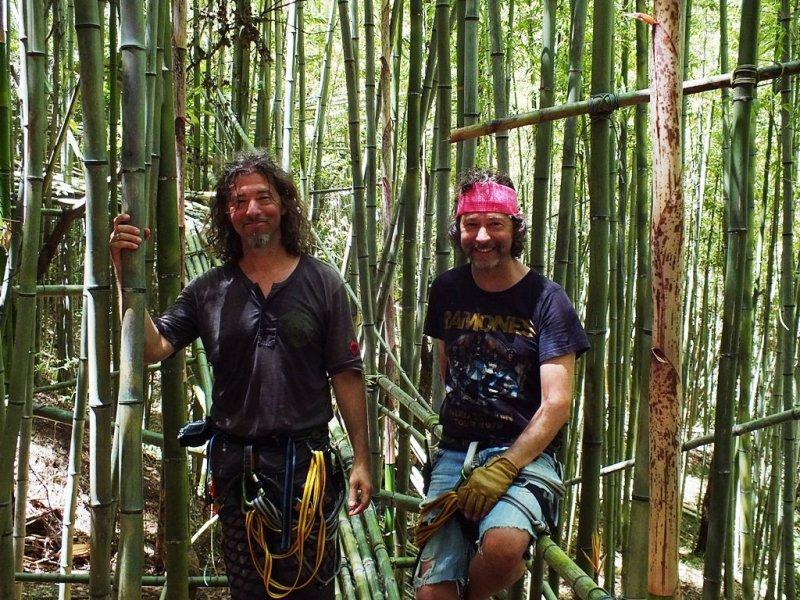 Doug et Mike Starn sur Teshima