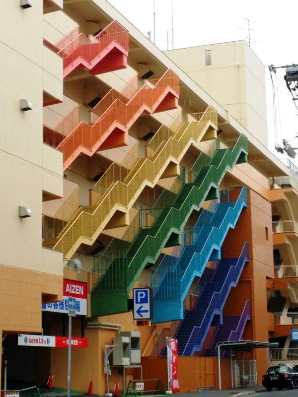 Escaliers arc-en-ciel
