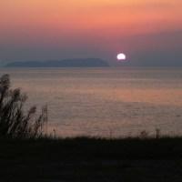 Étrange Coucher de Soleil sur la Mer Intérieure de Seto