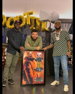 Davido Awarded Plaque For A Good Time Album, Blow My Mind & Risky | Watch Video
