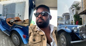 Kunle Afolayan Buys 1929 Mercedes Benz Classic (Photos)
