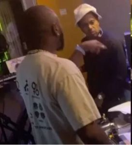 Video: Davido spotted in the studio with US rapper, Nas
