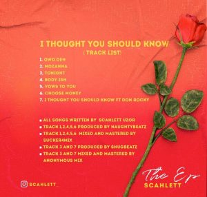 Download Ep: Scahlett – I Thought You Should Know (ITYSK)
