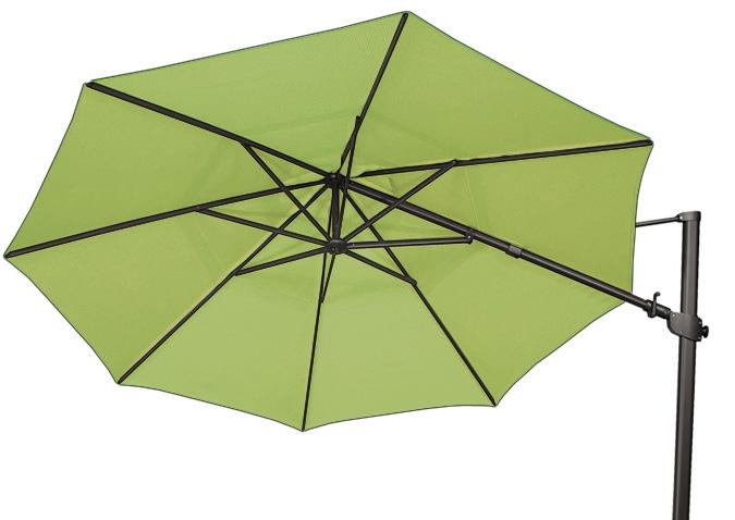 large 11 foot kiwi lime green offset octagonal patio umbrella by treasure garden