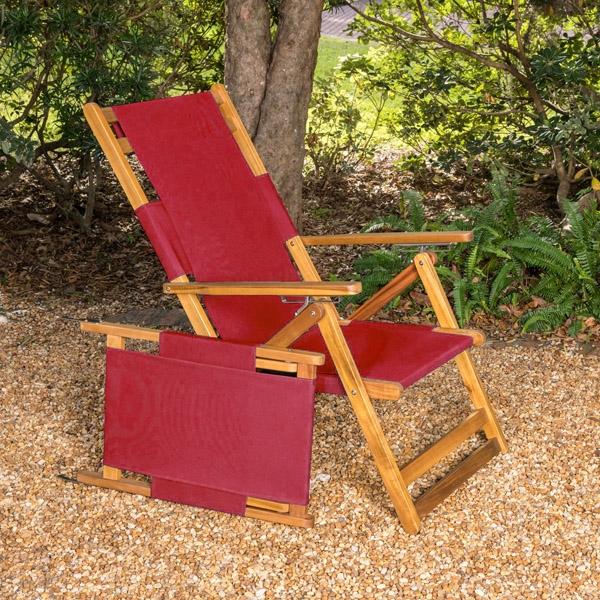 chaise de plage fiji en bois massif pliable et portable