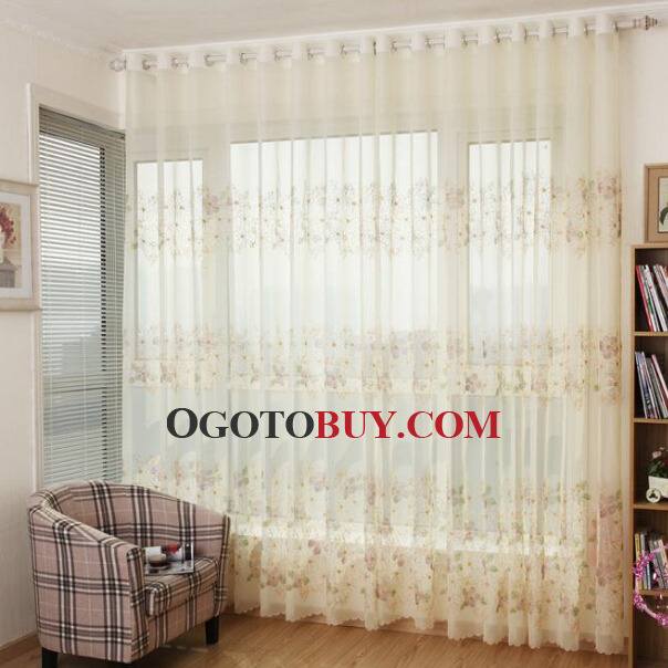 Bedroom White Sheer Curtain And D