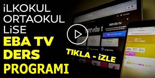 Nisan TRT EBA TV Ders Programı