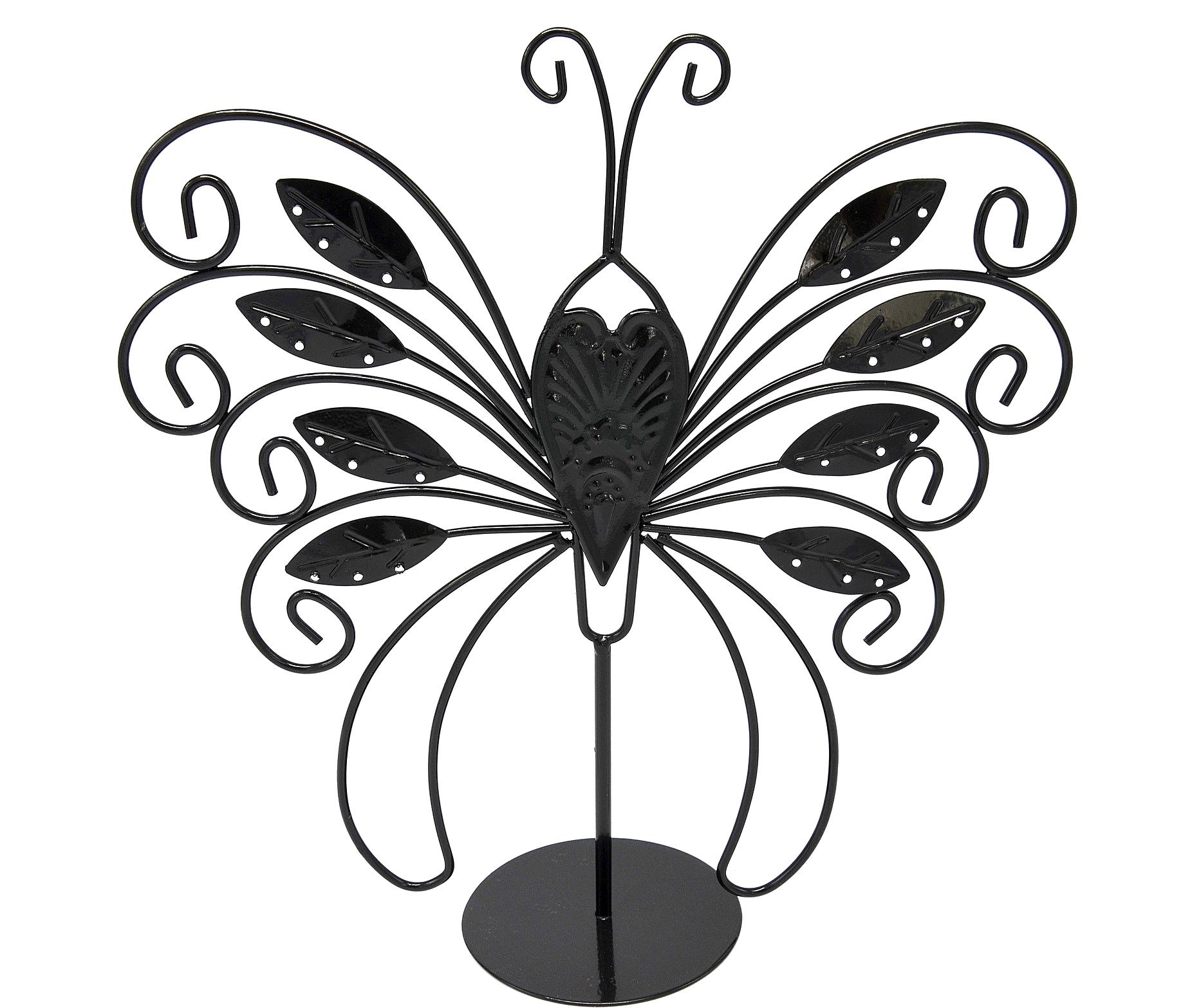 Prb09 Presentoir Bijoux Papillon Feuilles Pour Boucles D Oreilles Bracelets Et Colliers Noir Oh My Shop