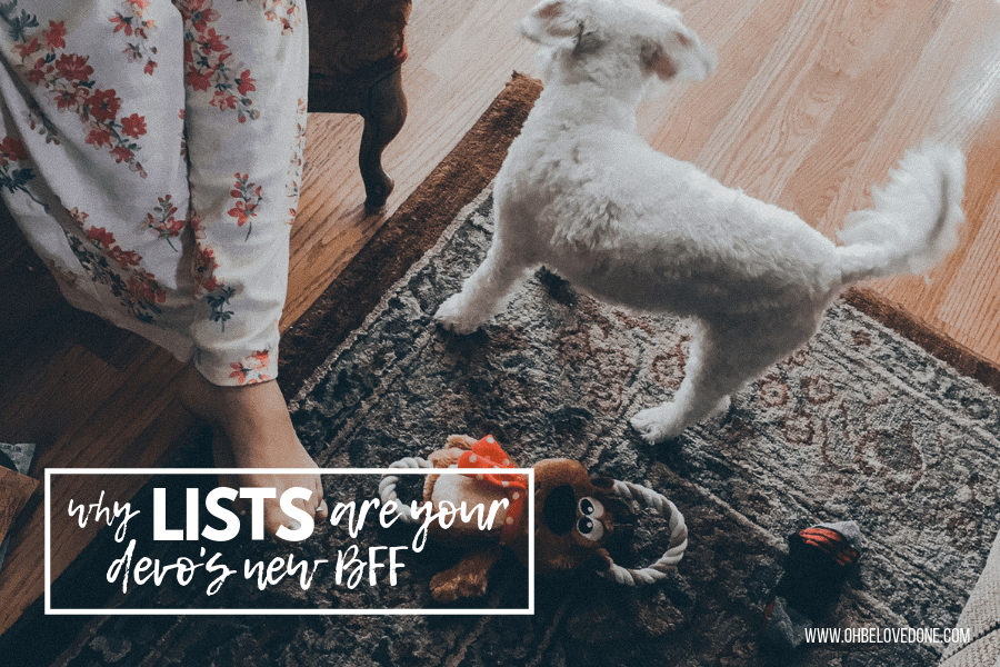 Why Lists Are Your Devo's New BFF