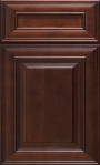 This is a picture of 4U Espresso Maple cabinet door.
