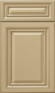 This is a picture of G Antique White cabinet door.
