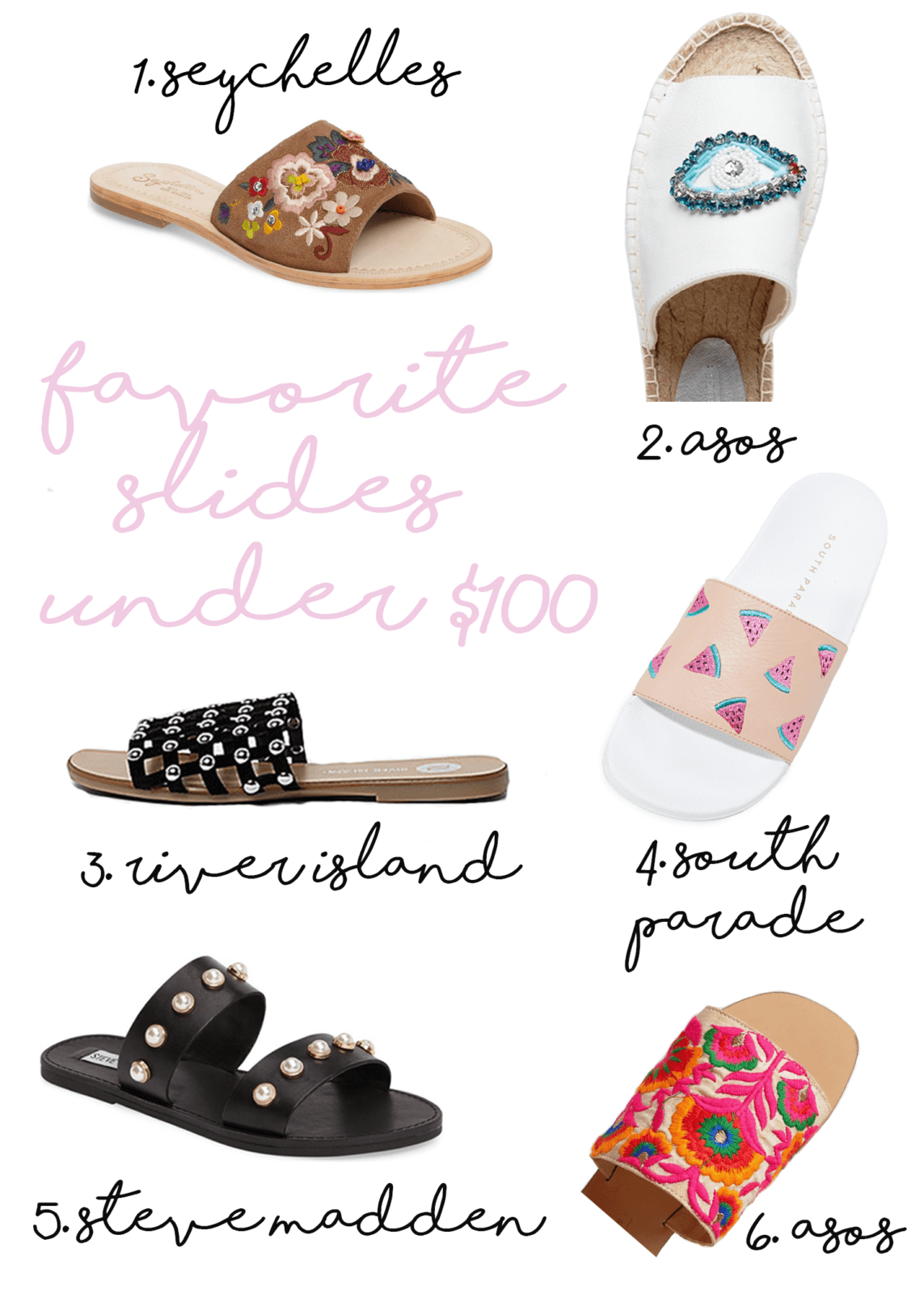 favorite slide sandals under $100
