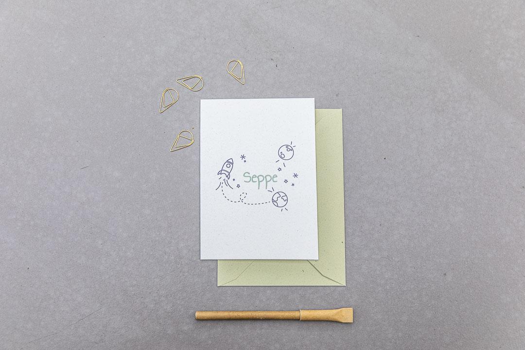 geboortekaartje op maat seppe grafisch ontwerp illustratie oh deer design
