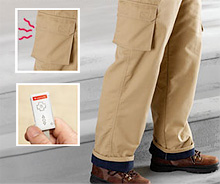 Dual-Zone Heated Cargo Pants (Image courtesy Brookstone)