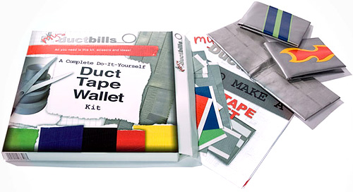 Duct Tape Wallet Kit (Image courtesy MyDuctbills)