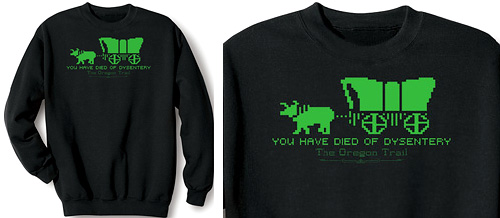 The Oregon Trail Shirts (Image courtesy The Wireless Catalog)