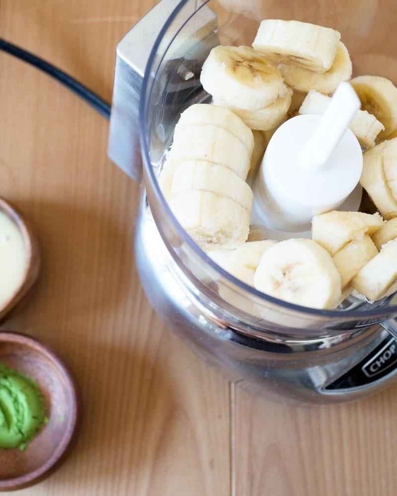"Matcha (Green Tea) Banana ""Ice Cream"" nice cream recipe"