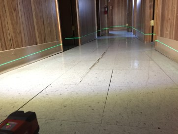 sloping floors with laser level