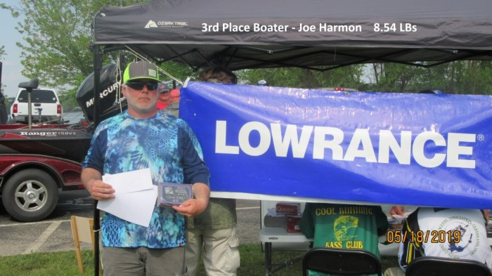 3rd Place Boater - Joe Harmon  8.54 LBs