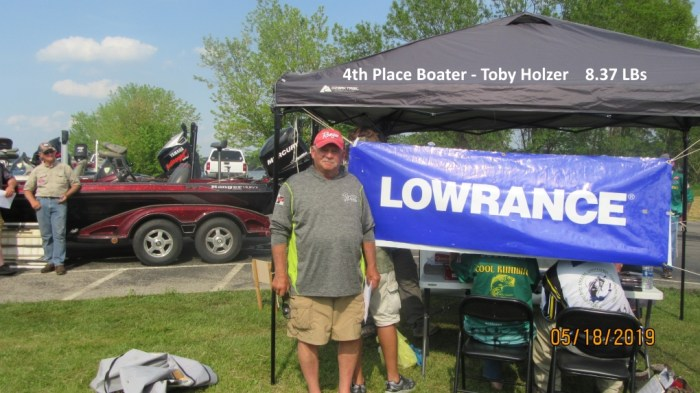 4th Place Boater - Toby Holzer  8.37 LBs