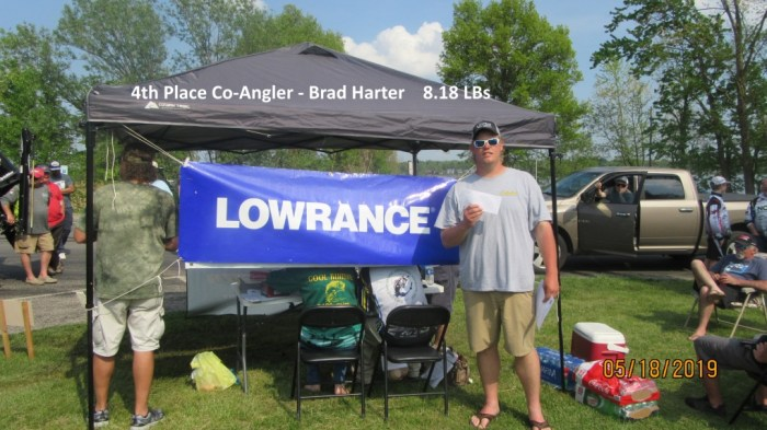 4th Place Co-Angler - Brad Harter  8.18 LBs