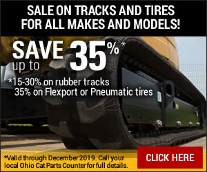 save on equipment tracks and tires