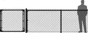 Black Chain Link Fence Vinyl Coated