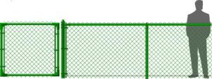Vinyl Coated Green Chain Link Fence