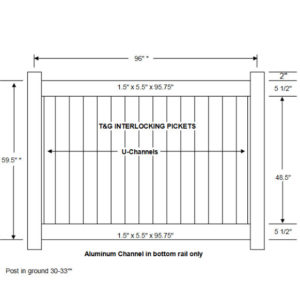 5' Privacy Fence