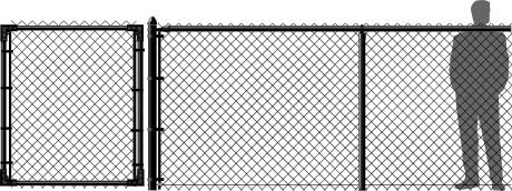 5' Black Chain Link Fence