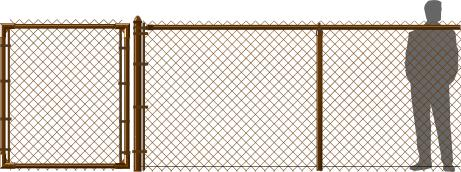 Brown Chain Link Fence