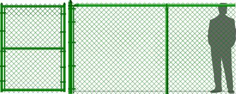 6' Green Chain Link Fence