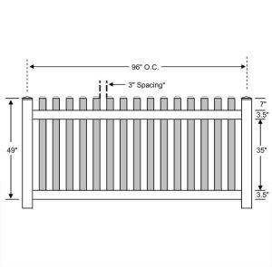 Vinyl Picket Fence – Standard
