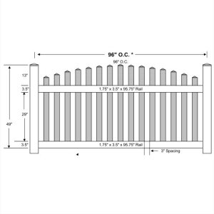 Vinyl Picket Fence – Arched