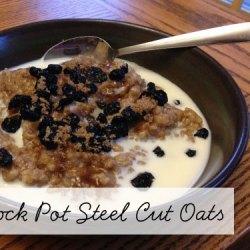 Day 5:: Overnight Crock Pot Steel Cut Oats