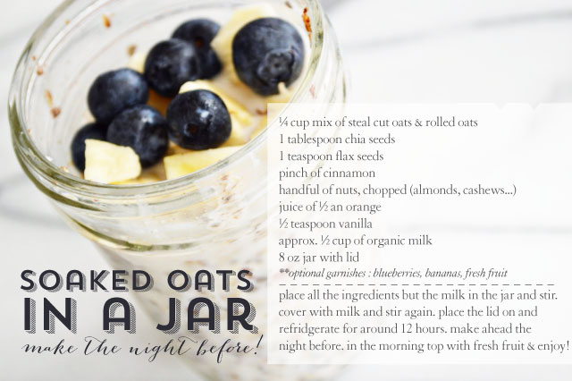 soaked oats in a jar | lovely ever after