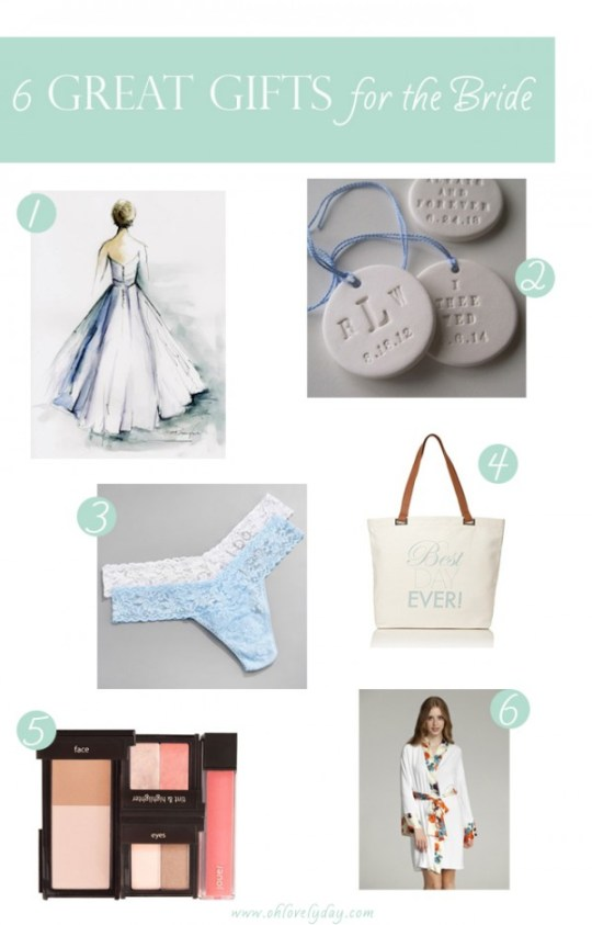 6 great gift ideas for the bride
