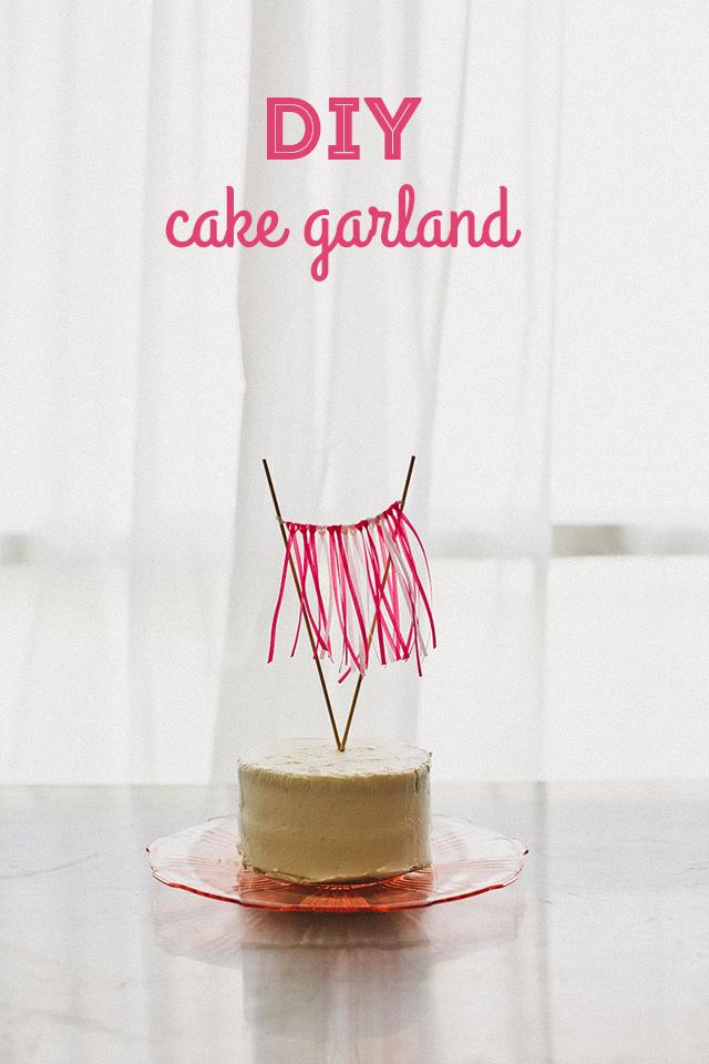 DIY ombré cake ribbon garland