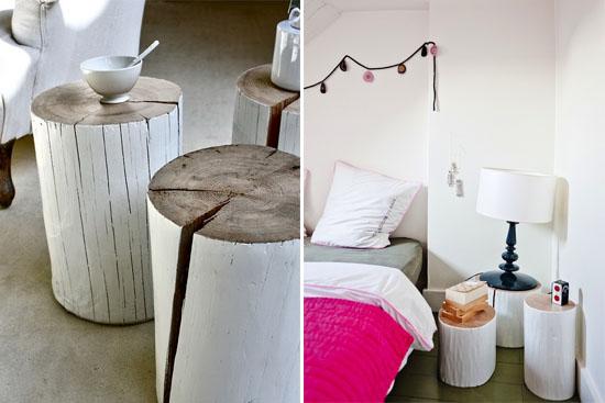 DIY tree stump tables   ohlovelyday.com