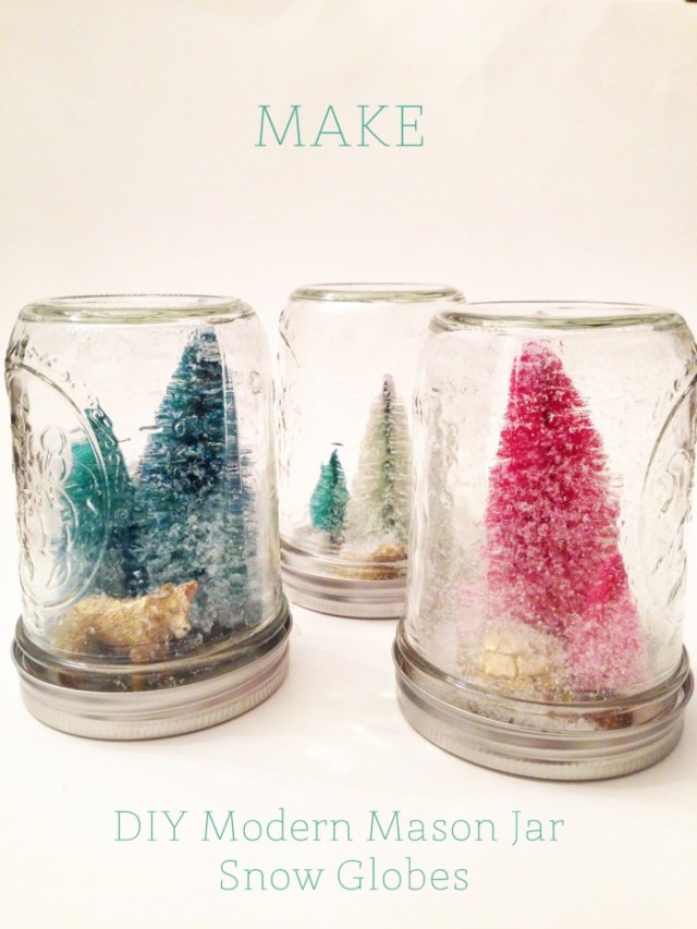 DIYmodern mason jar snow globes | Oh Lovely Day