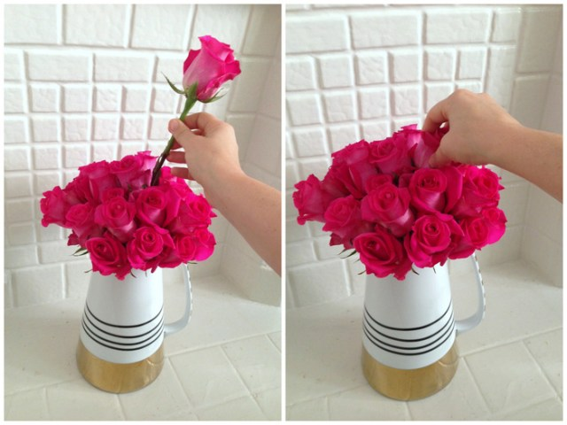 How To Arrange Roses | Valentine's Day tips from The Bouqs Company & Oh Lovely Day