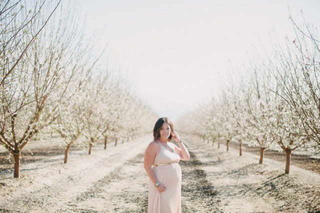 Almond Blossom Maternity Session | Hazelnut Photo by Heidi Ryder on Oh Lovely Day