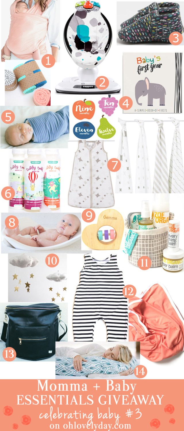 Baby Goodies Giveaway Celebrating  Baby #3 | ohlovelyday.com