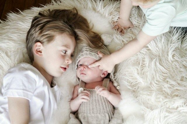 Quincy's Newborn Session + brother photos | Oh Lovely Day