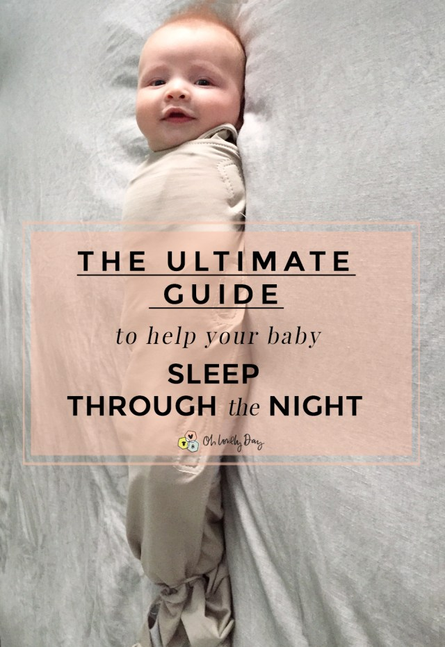 Brilliant tips + advice for how to help your baby sleep through the night, no matter what kind of sleeper they are or what sleep issues they have. From a mom of 3 who knows! A MUST PIN!