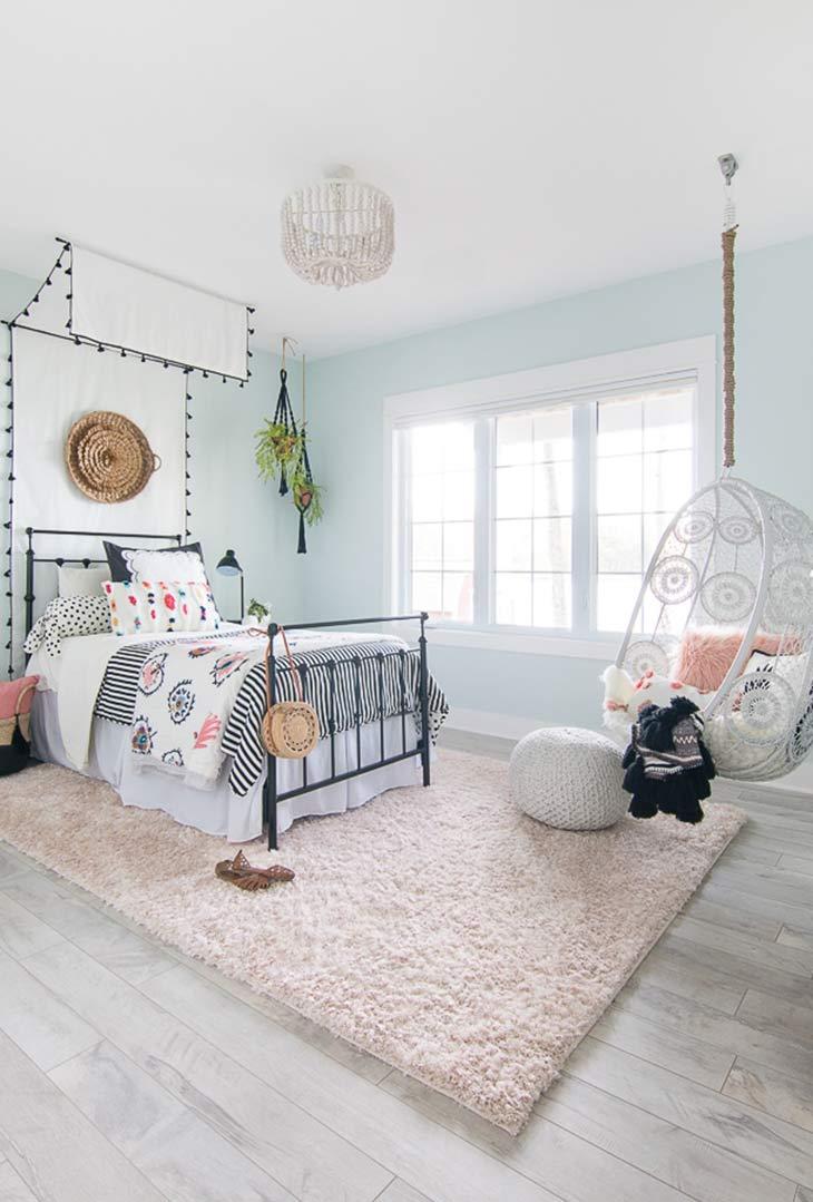 Cute & Stylish Teenage Girl Bedroom Ideas & Room Decor ... on Pretty Rooms For Teenage Girl  id=15450